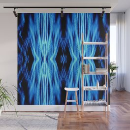 Electric Blue Abstract Wall Mural