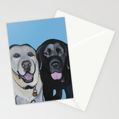 Indie & Daisy the labs Stationery Cards