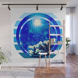 Blue Sky, healing, wall art, wall decor, spirituality,alternative Wall Mural