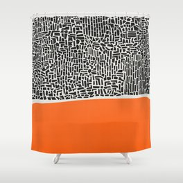 City Sunset Abstract Shower Curtain