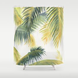 Tropical Palm Leaves Shower Curtain