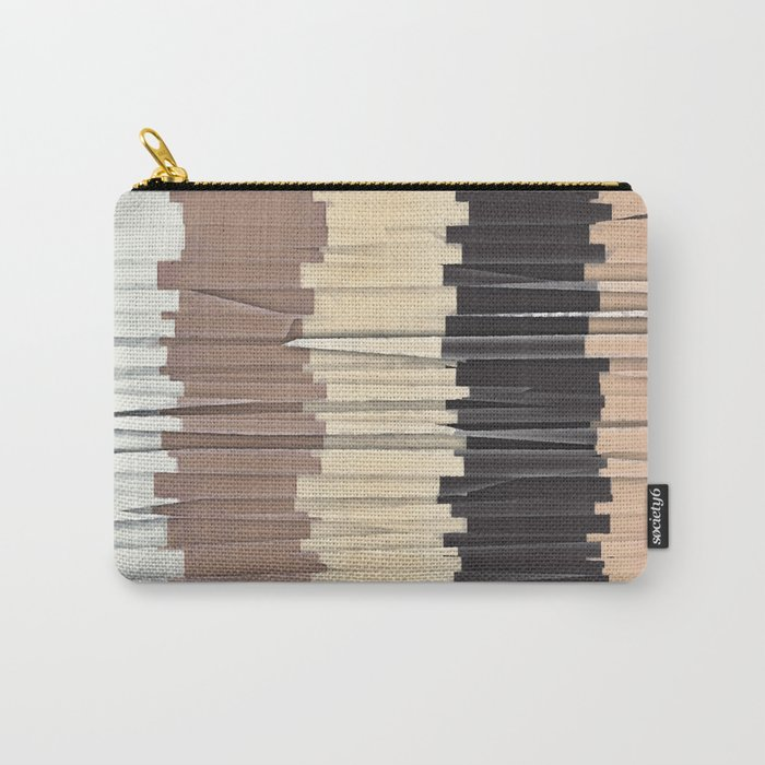 Shredded Stripes Abstract Carry-All Pouch
