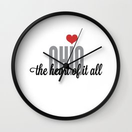 Ohio, The Heart of it All Wall Clock