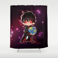 chibi Shower Curtains featuring Chibi Kamui by Neo Crystal Tokyo