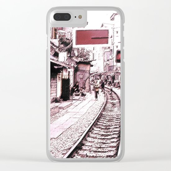 The train is coming soon.... Clear iPhone Case