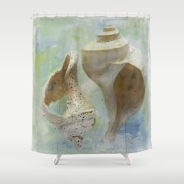 Channeled Whelks Shower Curtain