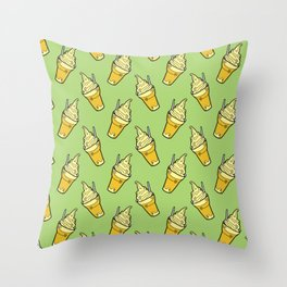 Sweet Little Pineapple Floats on Jungle Green Throw Pillow