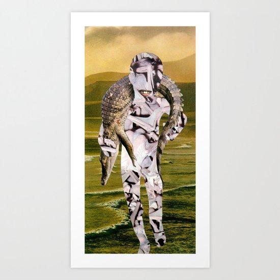 Croc Pot Art Print