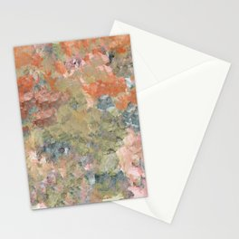 Pastel Garden in Orange and Green Stationery Cards