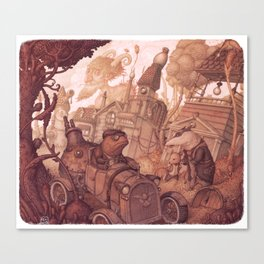 The Steam in the Willows Canvas Print
