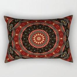 Rich European Burgundy Round Pattern A448a Rectangular Pillow