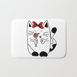 Kitten WITH CANDY Bath Mat