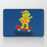 tmnt iPad Cases featuring Michaelangelo - TMNT by Designs By Misty Blue (Misty Lemons)