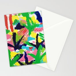 Bird Tracks, Abstract Art Stationery Cards