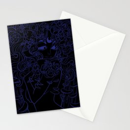Ghost Fungi - Black Out version Stationery Cards