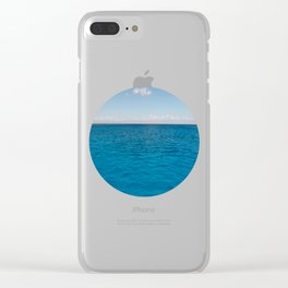 Water & Sky Horizon Round Photo Clear iPhone Case