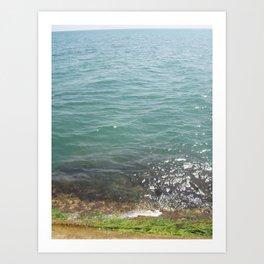 Travel to Crimea sea mountain landscape Art Print