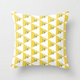 Cycling Polar Bear Triangle Throw Pillow