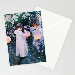John Singer Sargent - Carnation, Lily, Lily, Rose Stationery Cards