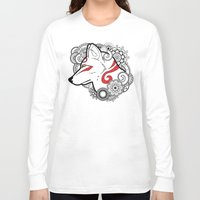 henna Long Sleeve T-shirts featuring Henna Wolf by Ben Coffman