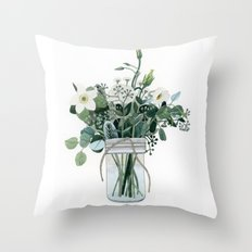 Forest Bouquet Throw Pillow