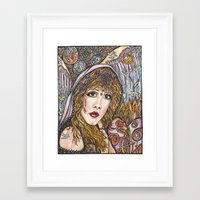 stevie nicks Framed Art Prints featuring BLAME IT ON MY WILD HEART, STEVIE NICKS by Dream A Little Designs