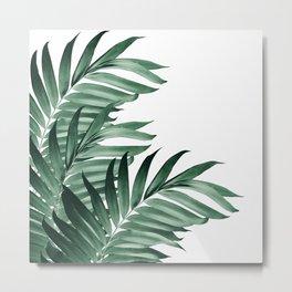 Palm Leaves Tropical Green Vibes #3 #tropical #decor #art #society6 Metal Print