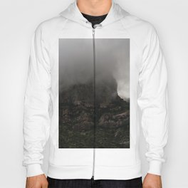 Foggy Chisos Mountaintop, Big Bend - Landscape Photography Hoody