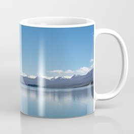 Blue line landscape Coffee Mug