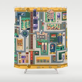 Map of life Shower Curtain