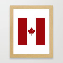 Canada: Canadian Flag (Red & White) Framed Art Print