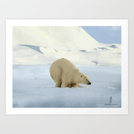 Ours Polaire Art Print