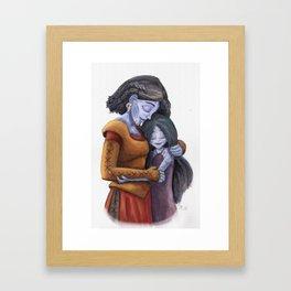 Angrboda and Hela Framed Art Print