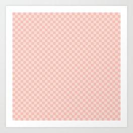 Check VII - Pink Art Print