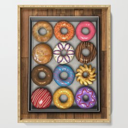 Box of Doughnuts Serving Tray