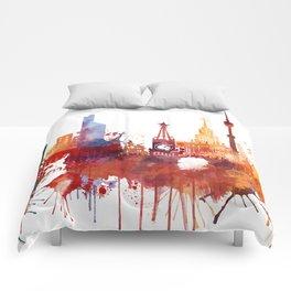Moscow Watercolor Skyline Comforters