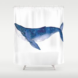 Whale  art Shower Curtain