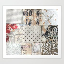 Fabric Collage1 Art Print
