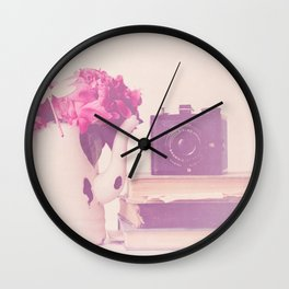 Smile for the Camera! (Peony Version) Wall Clock