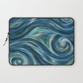 Gogh with the flow Laptop Sleeve