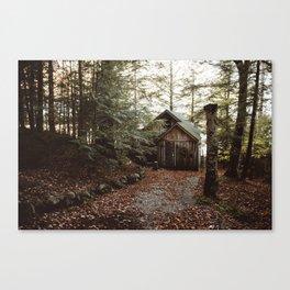 Cabin on Pleasant Lake Canvas Print