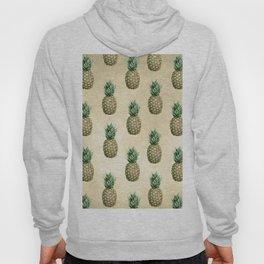 Vintage Pineapple Pattern Linen Hoody