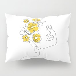 Mustard Bloom Girl Pillow Sham