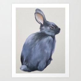 Black Rabbit Art Print