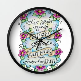 Fix Your Eyes on Jesus Wall Clock