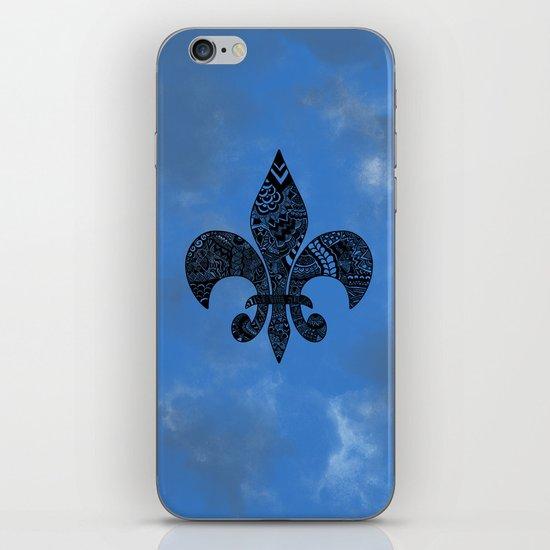 Blue Fleur de Lis iPhone & iPod Skin