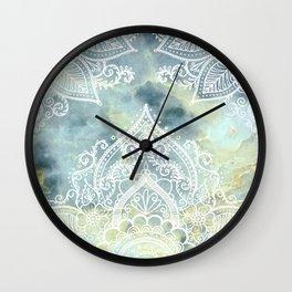 MANDALA ON MARBLE Wall Clock