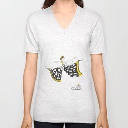 Lucia - Lady Butterfly Unisex V-Neck