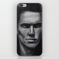james franco iPhone & iPod Skins featuring a young james franco by Emma Berlin