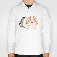 guinea pig Hoodies featuring Guinea Pig Patterned Guinea Pig by Upcyclepatch